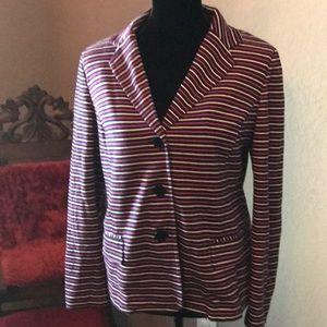 EUC Talbots Petite Large knit blazer